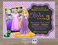 rapunzel tangled invitation printable princess birthday party