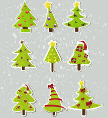 christmas elements stickers 04 vector free vector 4vector
