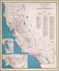 me a map of california road map of the state of california july 1940 david rumsey
