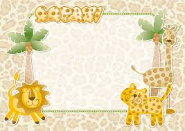 Jungle Theme Invitation Card 14 960 Baby Jungle Animals Stock Vector Illustration And Royalty