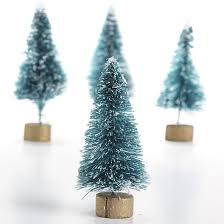 miniature frosted green bottle brush trees miniatures