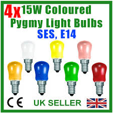 4x 15w coloured pygmy sign light bulbs display lamp small