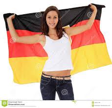 German Flag Shirt Teenage Waving German Flag Stock Photo Image 22341730