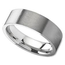 satin finish ring unisex wedding band in 8mm with satin finish center wedding