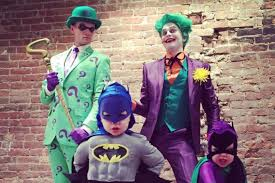 Superhero Family Halloween Costumes Neil Patrick Harris Family Halloween Gotham City Vanity Fair