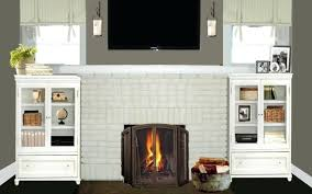 paint brick fireplace stovers