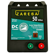 zareba 50 mile battery operated low impedance fence charger