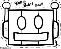 coloring charming robot mask template coloring robot