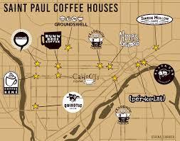 Map Of St Paul Mn Saint Paul Coffee Houses