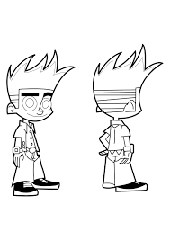 johnny test coloring pages printable virtren com