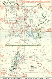 Us National Parks Map 1929 Yellowstone And Grand Teton National Parks Map Yellowstone