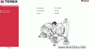 atlas terex spare parts catalog parts book parts manual