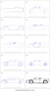 car ferrari drawing how to draw a ferrari printable step by step drawing sheet