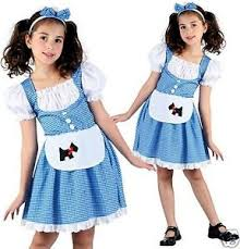 girls kids dorothy wizard of oz fancy dress costume world book day