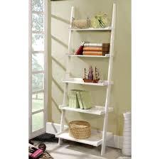 furniture black steel leaning ladder bookcase by ameriwood nice