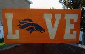 Denver Broncos wood sign This sign is made of 1 2 pine and