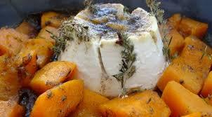 cuisiner le potimarron au four ricotta et potimarron rôtis au four sauce miel ail et thym