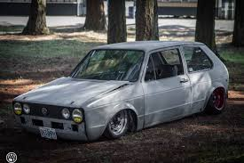 volkswagen rabbit vw rabbit golf mk i sitting on custom beetle frame is a rear