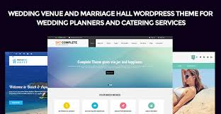 Wedding Planner Websites Wedding Venue And Marriage Hall Wordpress Themes For Planners