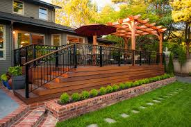 Living Trellis Wrought Iron Deck Deck Traditional With Trellis Brick Planter