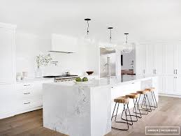white marble kitchen island marble block kitchen island transitional kitchen