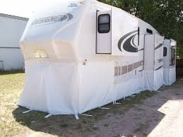 how to winterize a travel trailer images Rv skirting the work we do at winterize your rv jpg