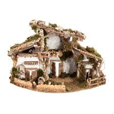 nativity set accessory cabin style hut 60x30x40 cm online sales