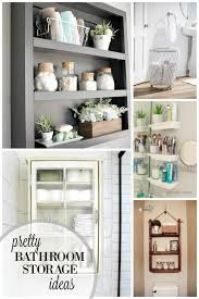 pretty bathroom ideas remodelaholic 30 bathroom storage ideas