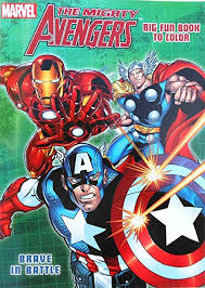amazon marvel mighty avengers coloring book captain