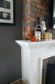 diy rustic fireplace mantel shelf build surround over brick how to a with crown molding