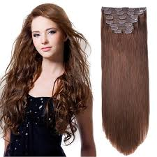100 human hair extensions bhf clip in hair extensions 20 chocolate brown 4 160g