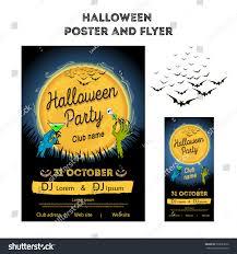 vector illustration halloween party halloween poster stock vector