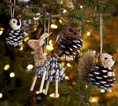 christmas crafts pinecone critters along with the pine cone