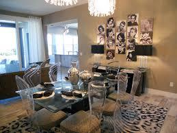 Hollywood Regency Beach House Traditional Dining Room - Regency dining room