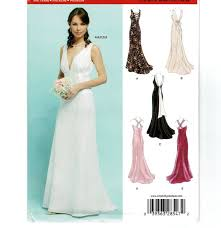 wedding dress sewing patterns new look 6401 s formal dress sewing pattern sleeveless