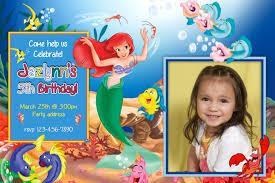 little mermaid birthday invitations kawaiitheo com