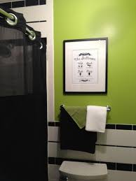 black and white with lime green bathroom bathroom remodel