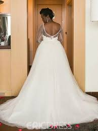 Wedding Dress With Train Ericdress Lace Long Sleeves Hi Lo Knee Length Wedding Dress With