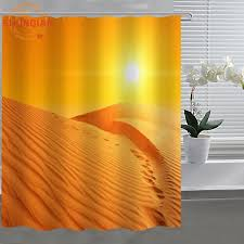 Custom Shower Curtains Desert Sand Dune Custom Shower Curtain Fabric Polyester Bathroom