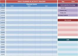 Daily Planner Template Excel Excel Planner Templates Gives An Overview Of The Tasks You Decides