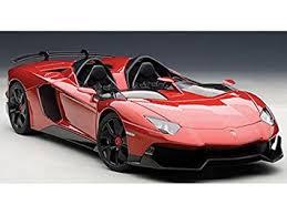 lamborghini aventador j amazon com lamborghini aventador j metallic red 1 18 by autoart