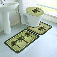 Palm Tree Runner Rug Bath Rug Set Ebay