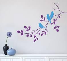 three birds on a tree branch wall sticker three birds on a branch wall art sticker