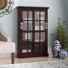 Media Cabinet With Sliding Doors Darby Home Co Sliding Door Media Cabinet Reviews Wayfair