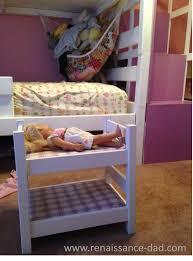 renaissance dad inexpensive diy doll bunk bed