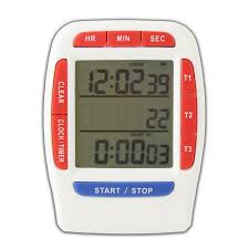 triple timer clock kitchen 3 line fridge magnet digital lcd count