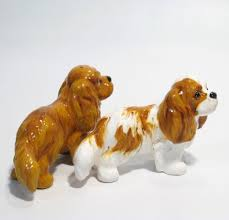 cavalier king charles spaniel lover table top figurine