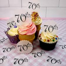 70th birthday cake toppers and decorations