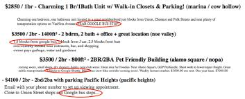 curbing the google bus al jazeera america craigslist ads for apartments in san francisco on each of these days i found many listings that advertised proximity to google bus stops as a perk