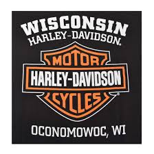 Harley Davidson Patio Lights by Harley Davidson Men U0027s Orange Bar U0026 Shield Black T Shirt 30290591
